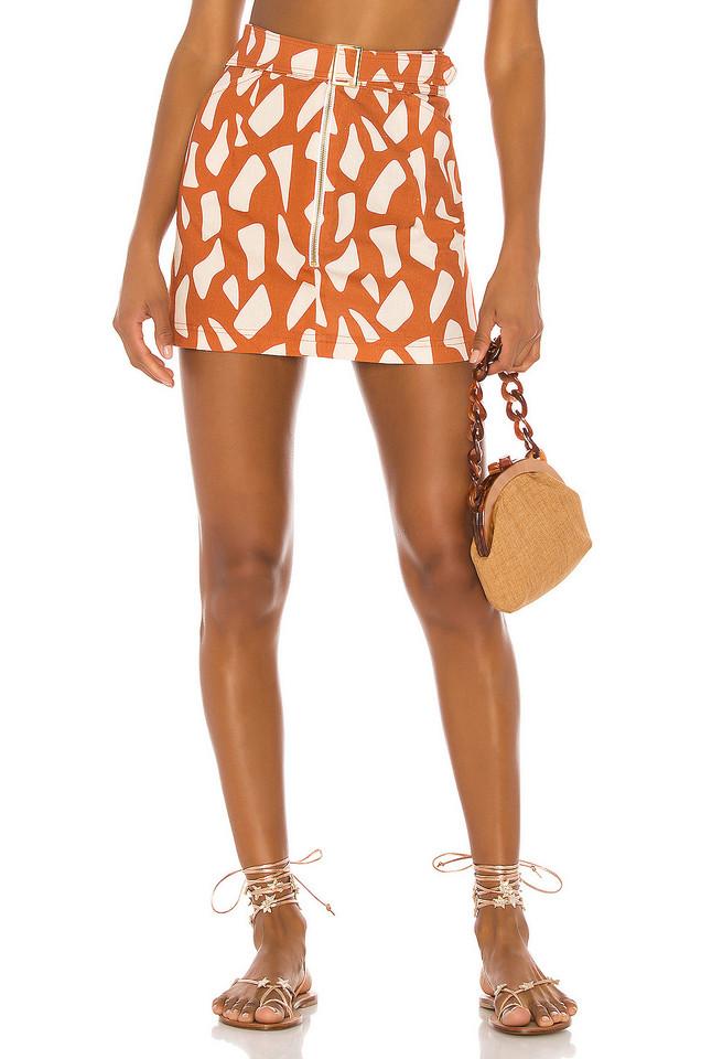 ELLEJAY Maddie Skirt in orange