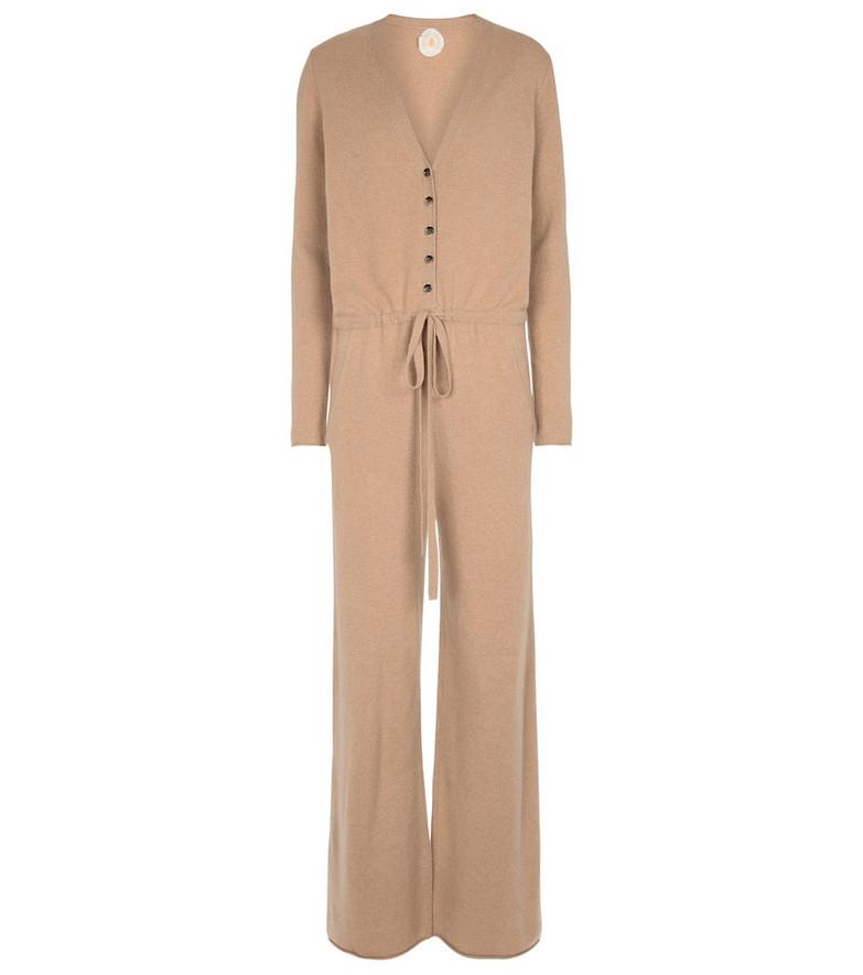 Jardin des Orangers Wool and cashmere jumpsuit in brown