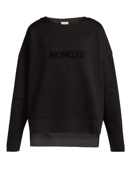 Moncler - Maglia Girocollo Cotton Sweatshirt - Womens - Black