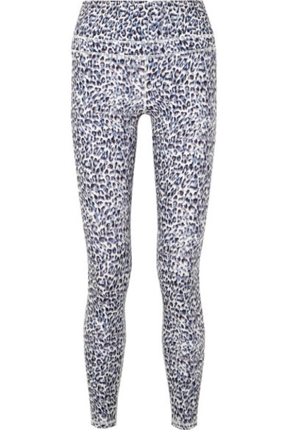 7dfab7d17aaf82 Varley - Biona Leopard-print Stretch Leggings - Gray - Wheretoget
