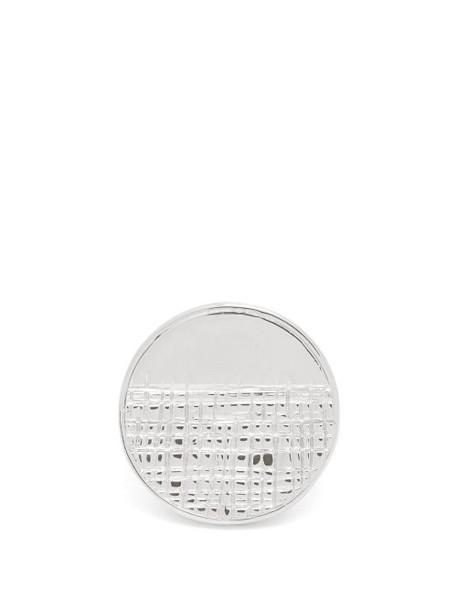 Givenchy - Half Engraved Circle Ring - Womens - Silver