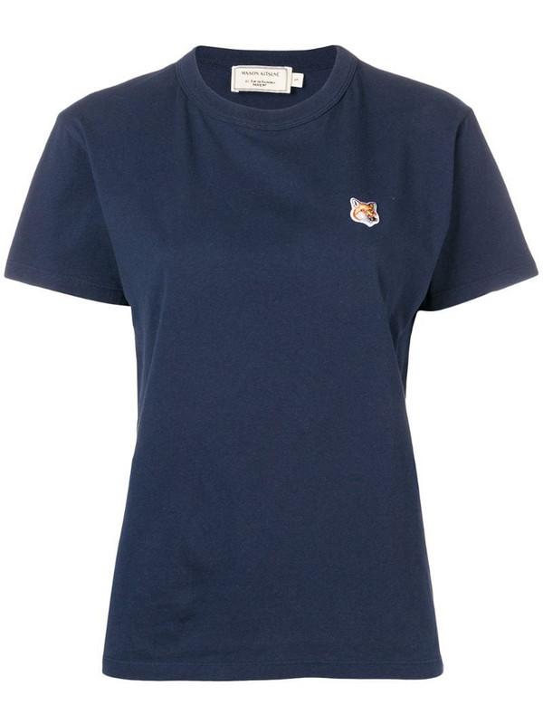 Maison Kitsuné Fox patch T-shirt in blue