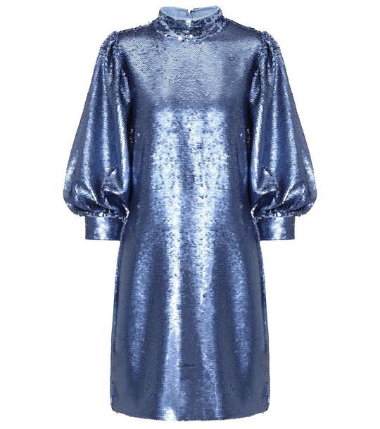 Ganni Sequined minidress in blue