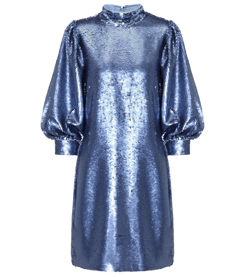 Ganni Sequined minidress in blue