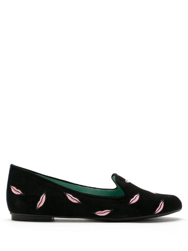 Blue Bird Shoes Ballet Kisses suede loafers in black