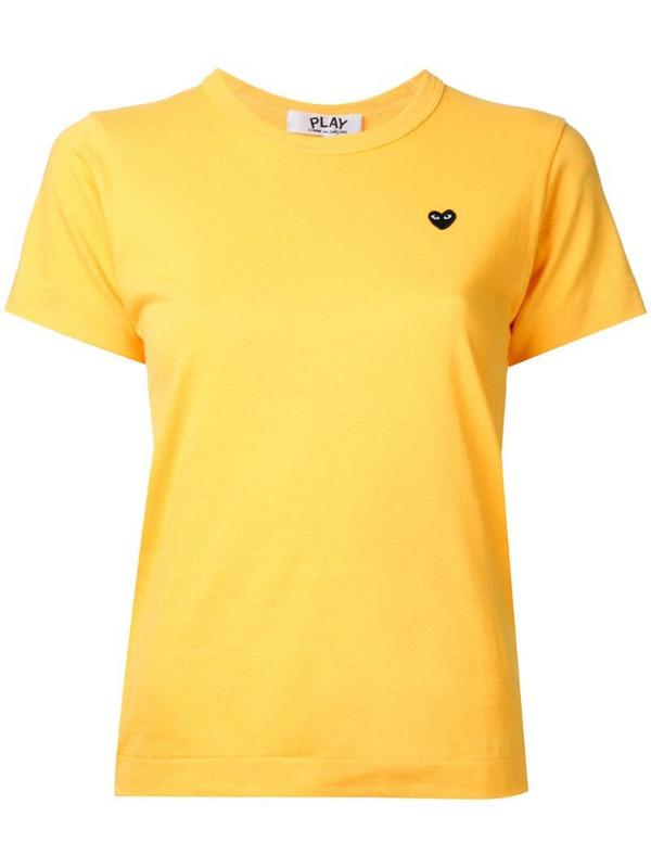 Comme Des Garçons Play black heart T-shirt in yellow