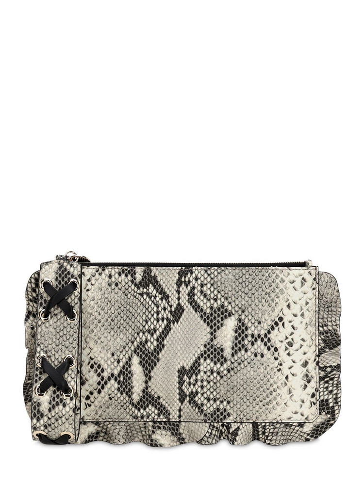 RED V Python Printed Leather Pouch