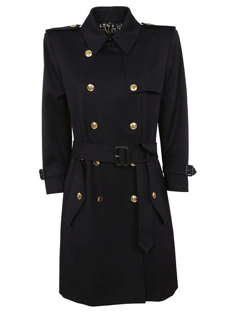 Givenchy Double Breasted Belted Trench Coat in black