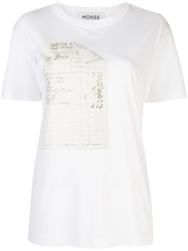 Monse receipt print T-shirt in white