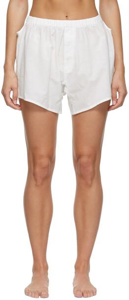 Araks Cotton Eduardo Boxer Shorts in white