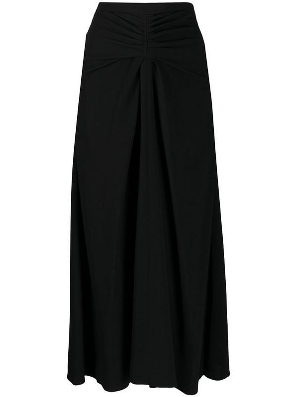 Rochas high rise midi skirt in black