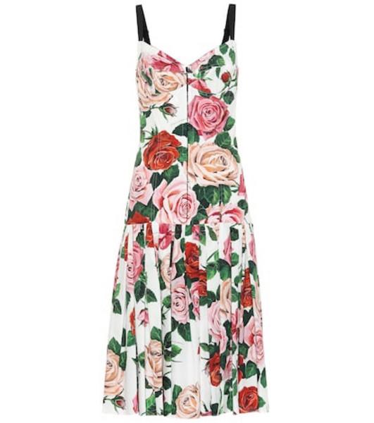 Dolce & Gabbana Printed cotton-blend midi dress