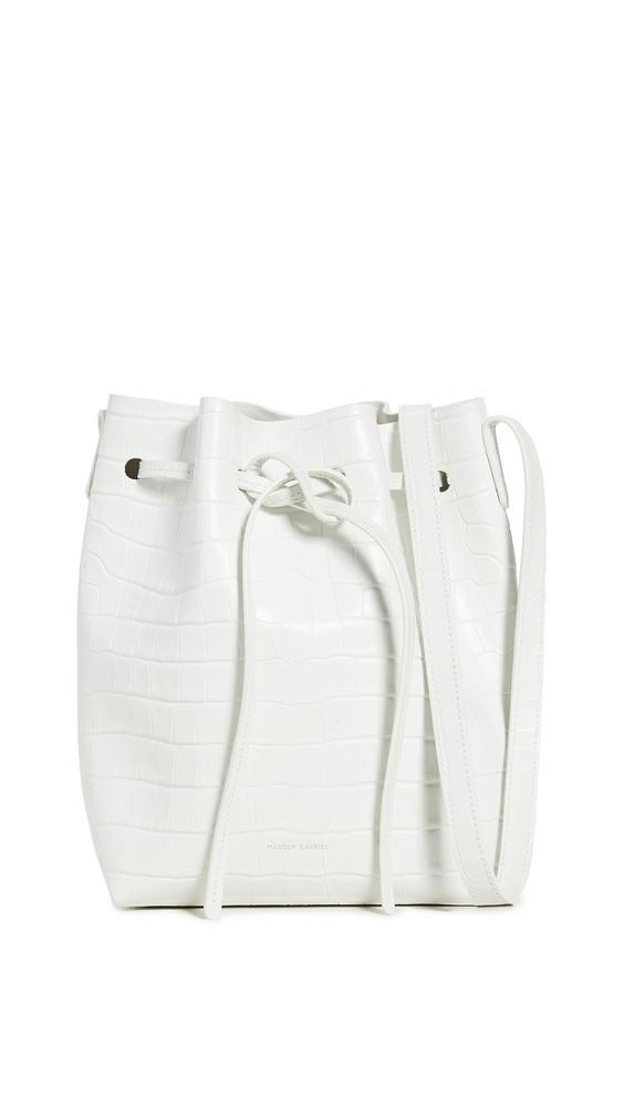 Mansur Gavriel Mini Bucket Bag in white