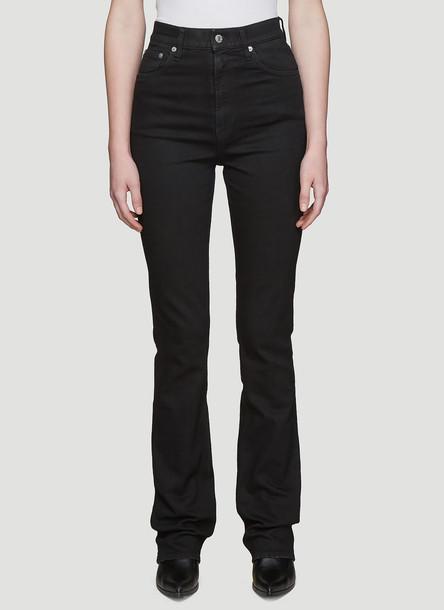 Helmut Lang Hi-Rise Boot-Cut Jeans in Black size 26