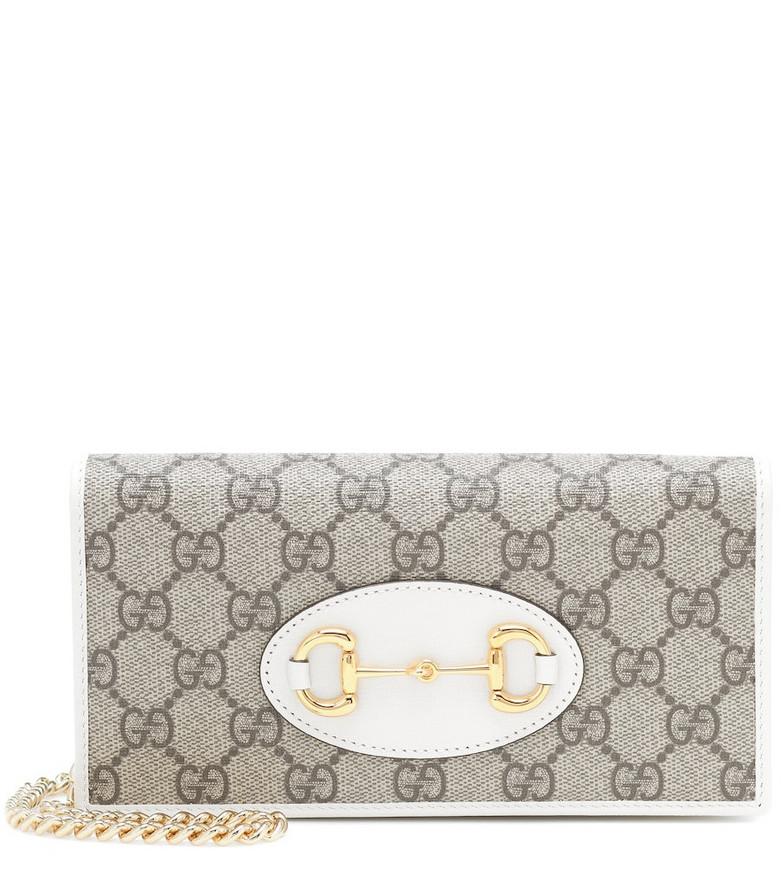 Gucci Horsebit 1955 Small shoulder bag in white