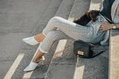 mi aventura con la moda,blogger,jacket,pants,sunglasses,shoes,grey pants,suit,spring outfits,white heels