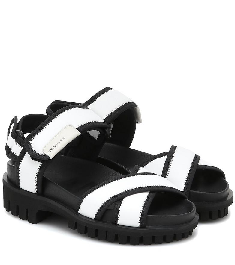 Ganni Nylon trekking sandals in white