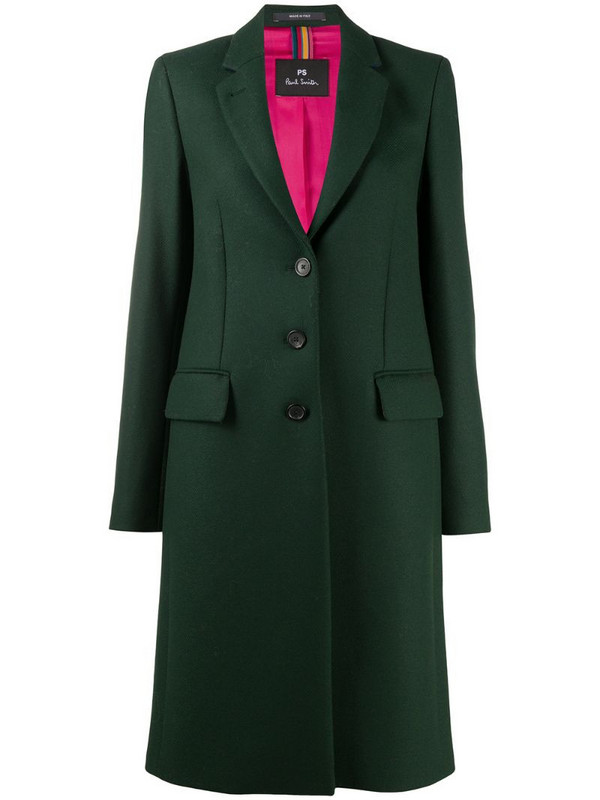 PS Paul Smith Epsom fitted coat in green