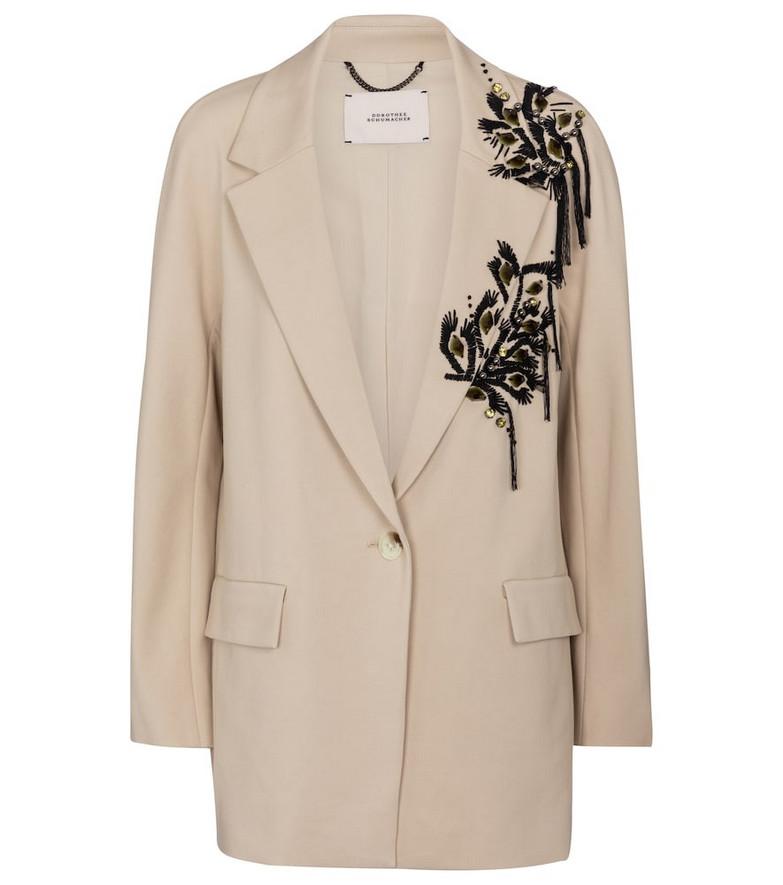 Dorothee Schumacher Emotional Essence embellished blazer in beige