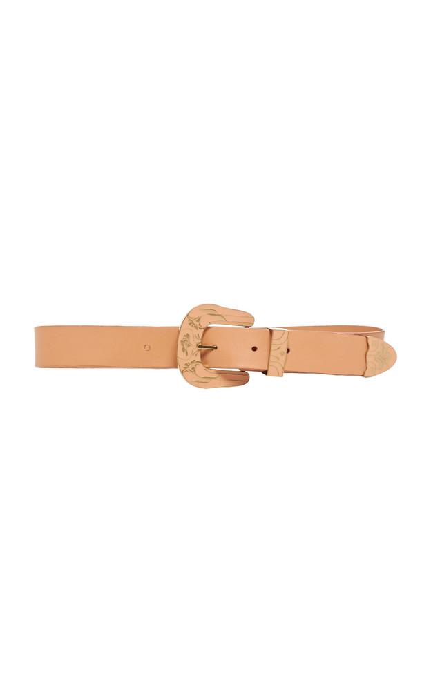 Johanna Ortiz Wandering Enamel-Buckle Leather Belt Size: M in neutral