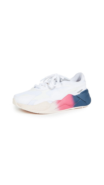 PUMA RS-X3 White Leather Sneakers