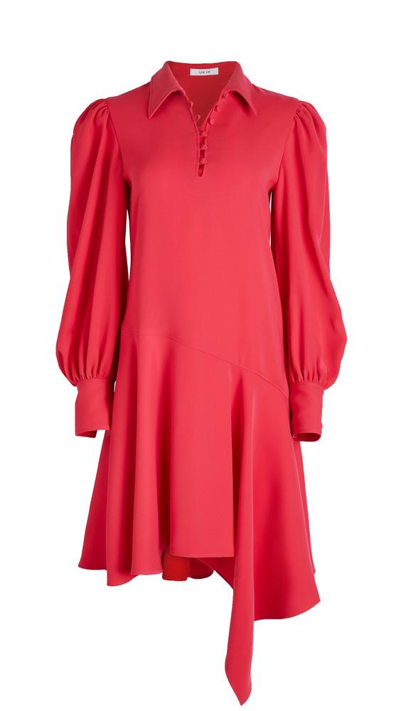 Adeam Button Down Dress in fuchsia