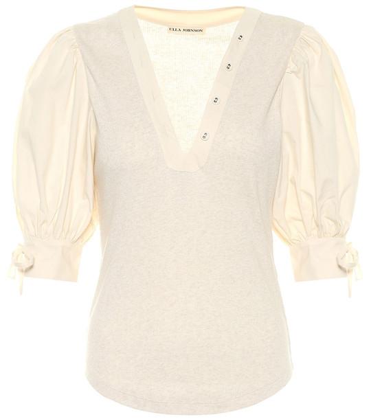 Ulla Johnson Pia cotton top in beige