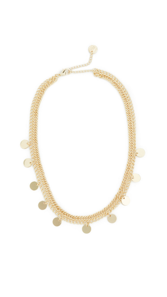 Jules Smith Disc Curb Chain Necklace in gold