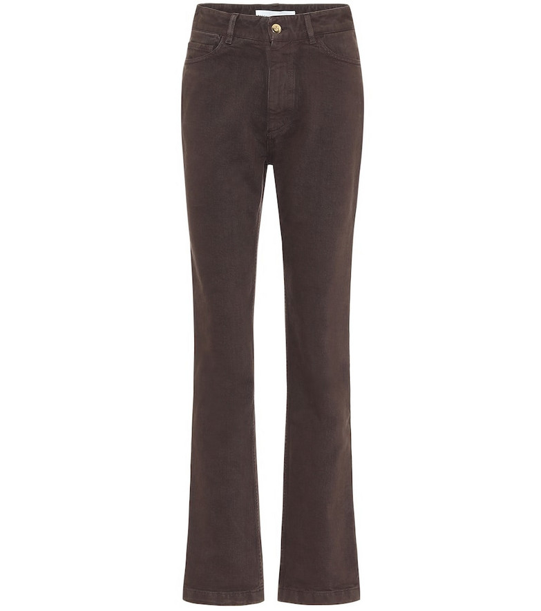 Matthew Adams Dolan High-rise straight jeans in brown