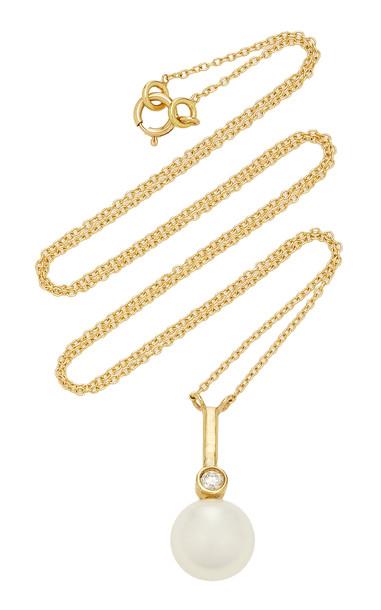 Katey Walker 18K Gold Pearl And Diamond Choker