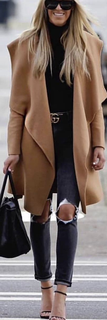 coat cute brown nude cool style