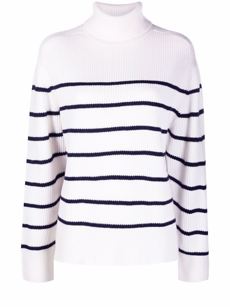 P.A.R.O.S.H. P.A.R.O.S.H. striped roll-neck jumper - White