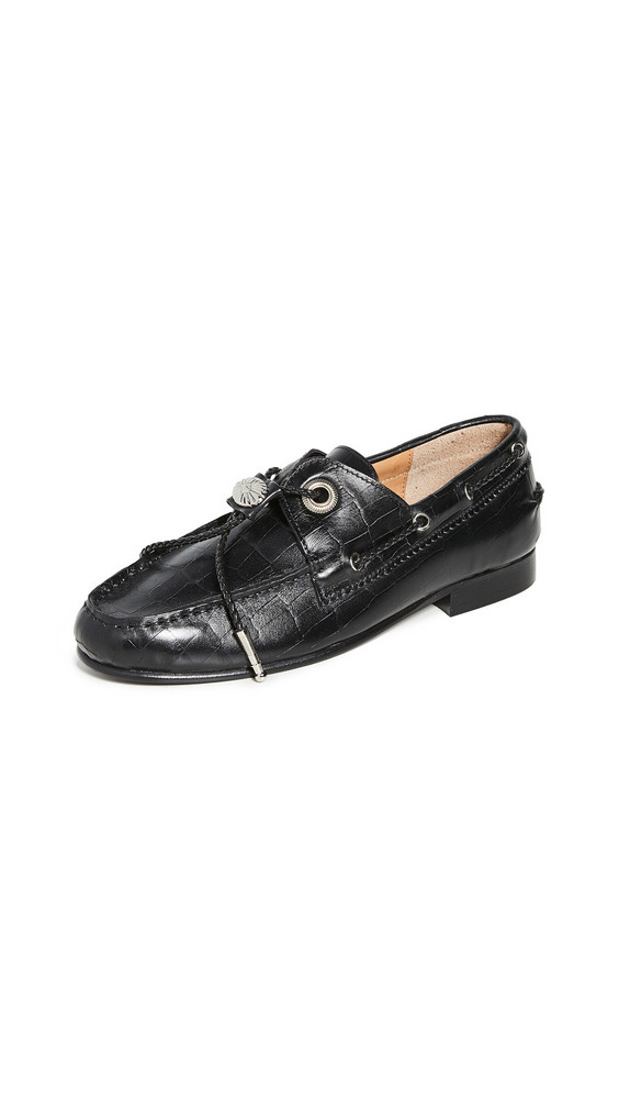 Toga Pulla Embossed Loafers in black