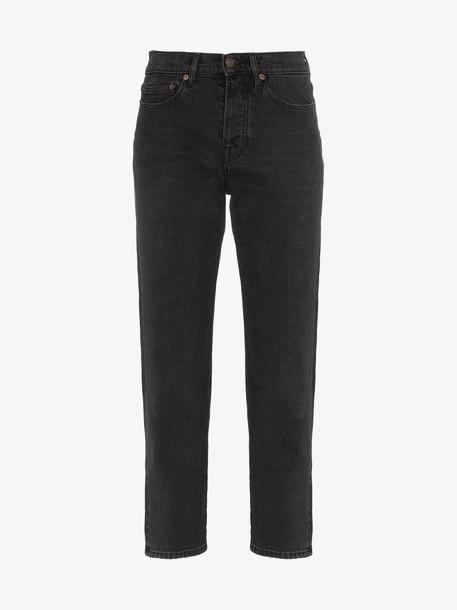 Jeanerica Classic Straight Leg Cropped Denim Jeans