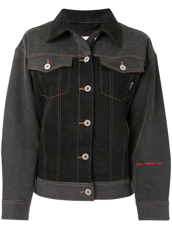 BAPY BY *A BATHING APE® logo denim jacket in black