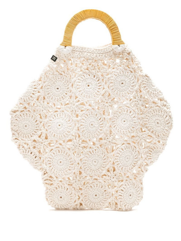 Nannacay Melissa G crochet bag in neutrals