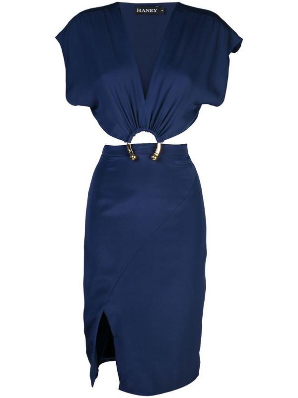 Haney Kerr hoop detail dress in blue