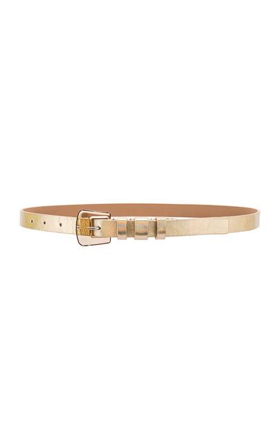 B-Low the Belt Kim Iridescent Belt in gold / metallic
