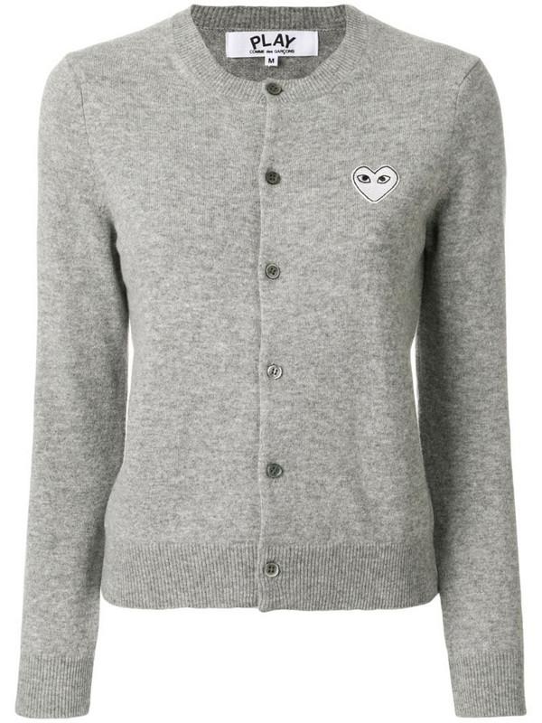 Comme Des Garçons Play round neck cardigan in grey