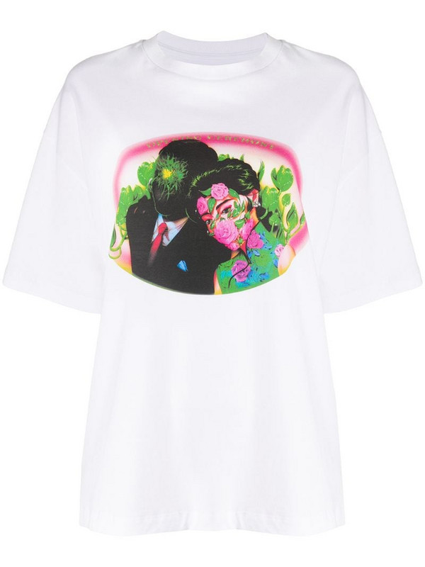 Opening Ceremony figures print loose-fit T-shirt in white