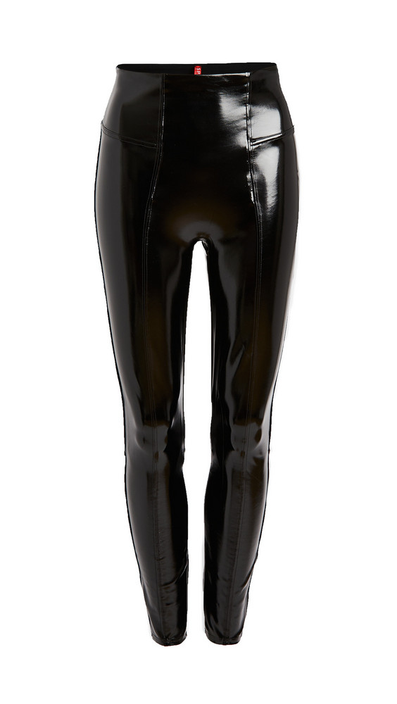SPANX Faux Patent Leather Leggings in black
