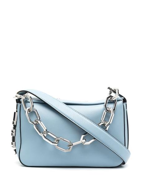 Karl Lagerfeld logo shoulder bag in blue