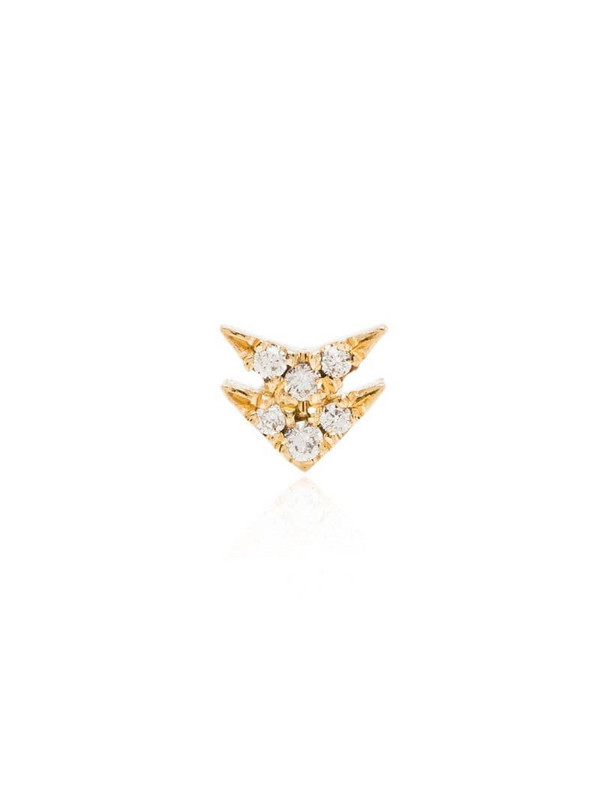 Lizzie Mandler Fine Jewelry 18kt yellow gold Double Arrow diamond earring