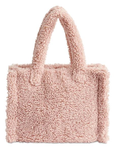 STAND Liz Faux Fur Tote Bag in pink