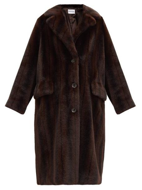 Stand Studio - Theresa Faux-fur Coat - Womens - Brown