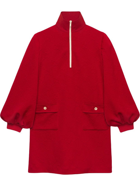 Gucci GG jacquard dress - Red