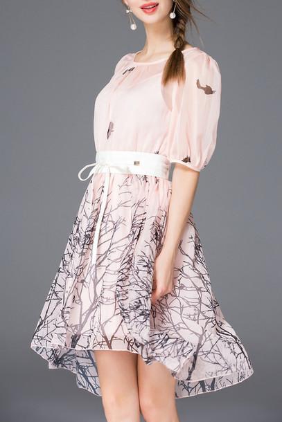 dress pink girly spring summer cute trendy dezzal