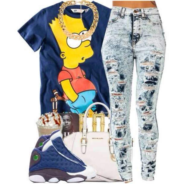 shirt jeans shoes jewels
