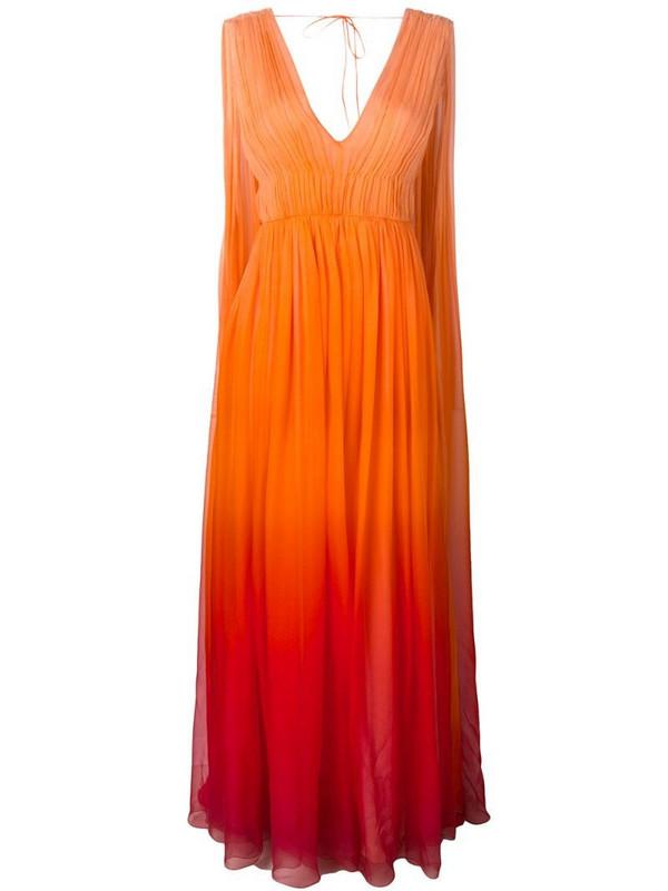 Alberta Ferretti ombré goddess gown in orange