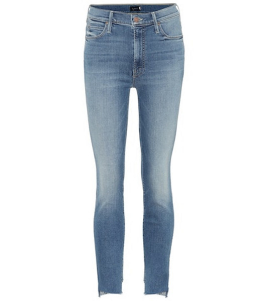 Mother Stunner Two Step Fray skinny jeans in blue
